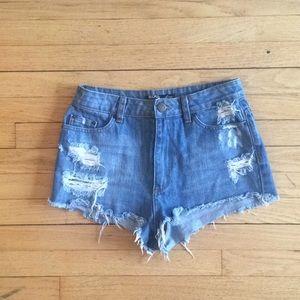 Urban Outfitters high waist cutoff denim shorts